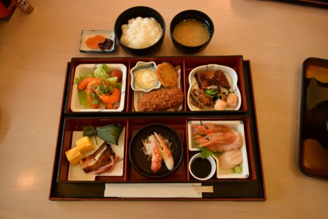 写真1:弥山荘御膳を選択