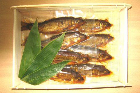 写真2:アユの甘露煮を選択