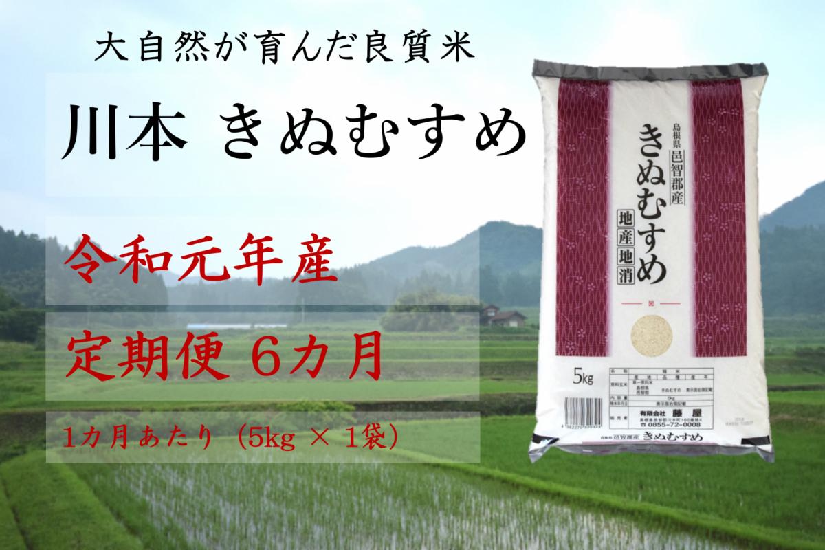 写真1:【先行予約!令和元年新米/お米定期便/6ヵ月】しまね川本きぬむすめ5kg(計30kg)