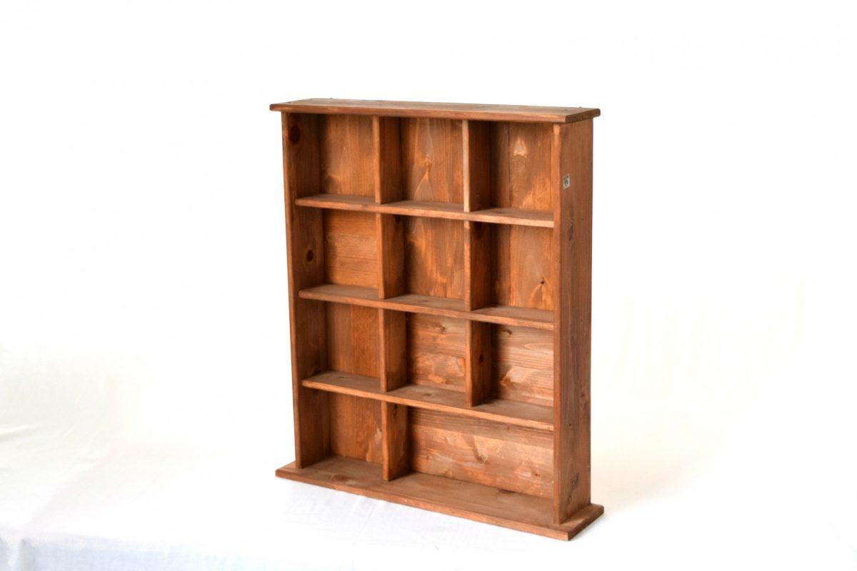 写真1:【老舗家具店の手作り】飾り棚(大)ブラウン