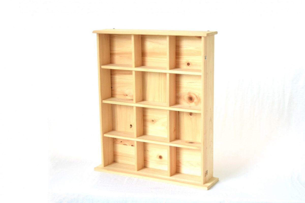 写真1:【老舗家具店の手作り】飾り棚(大)白木