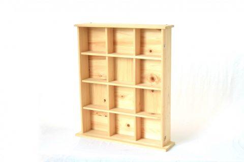 【老舗家具店の手作り】飾り棚(大)白木