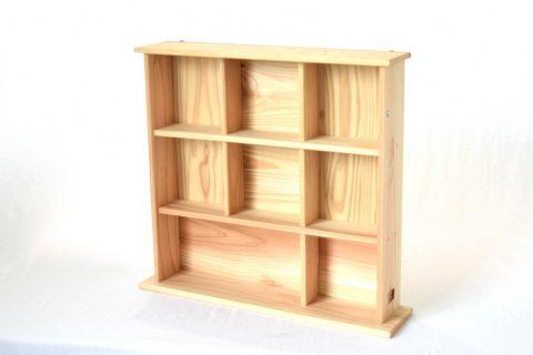 【地元老舗家具店の手作り】飾り棚(白木)