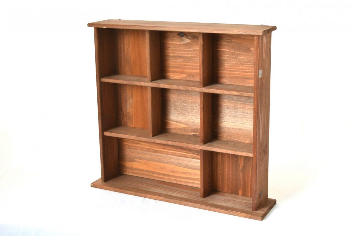 写真1:【地元老舗家具店の手作り】飾り棚(ブラウン)