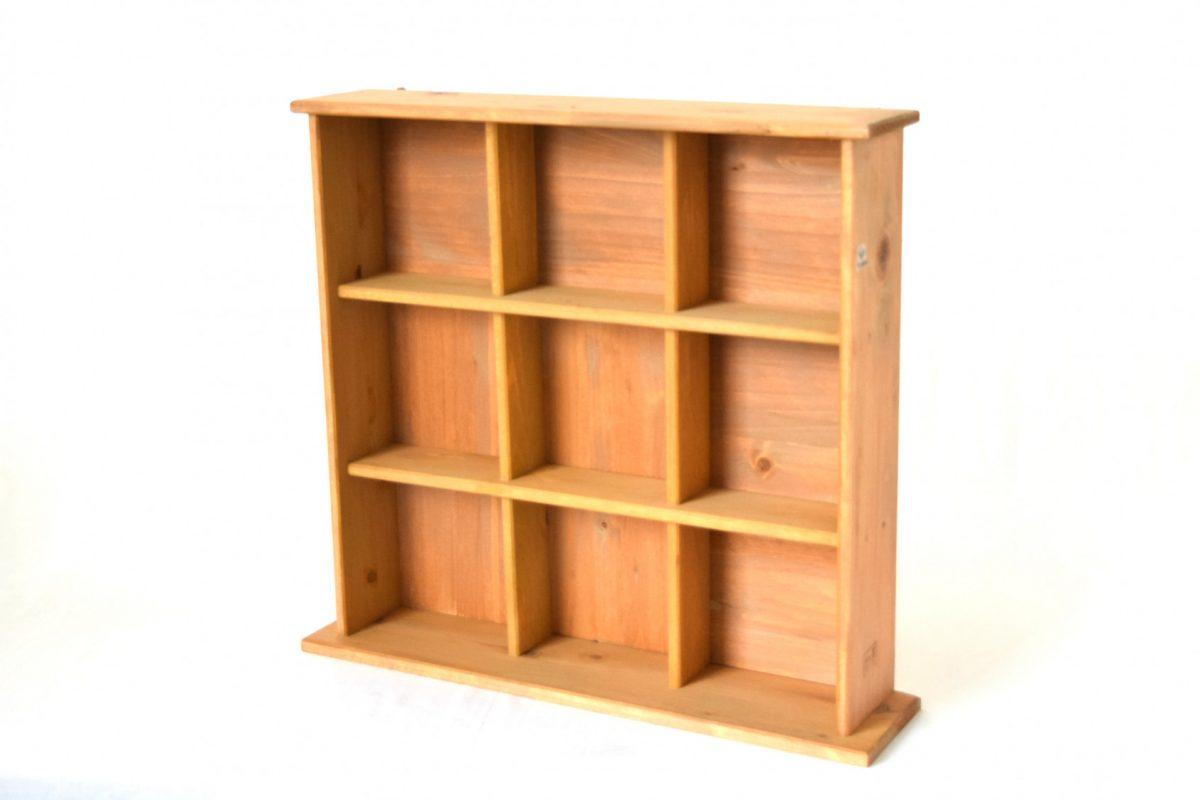 写真1:【地元老舗家具店の手作り】飾り棚(ライトブラウン)
