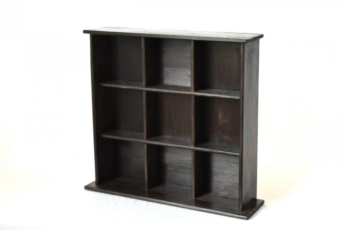 写真1:【地元老舗家具店の手作り】飾り棚(ブラック)