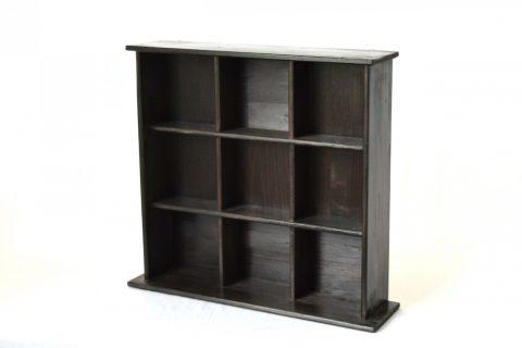【地元老舗家具店の手作り】飾り棚(ブラック)