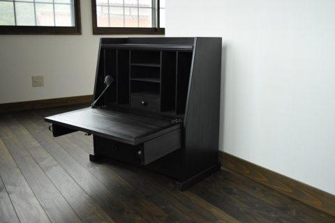 【老舗家具店の手作り】飾り座机 (ブラック)