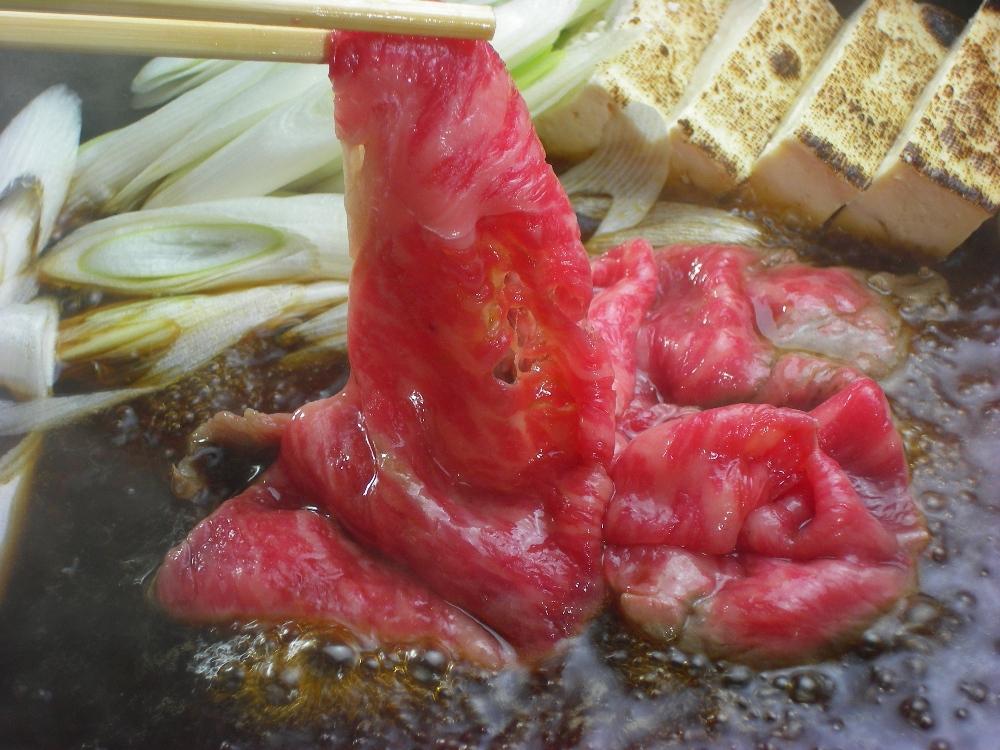 写真1:【とろける美味しさ】石見和牛肩ロースすき焼き用450g