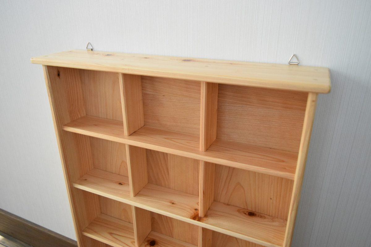 写真2:040186【老舗家具店の手作り】飾り棚(5段) 白木