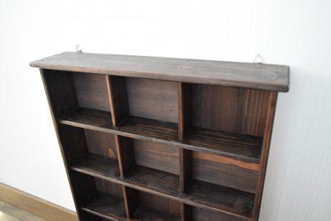 写真2:040187【老舗家具店の手作り】飾り棚(5段) ダークブラウンを選択