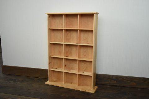 040186【老舗家具店の手作り】飾り棚(5段) 白木