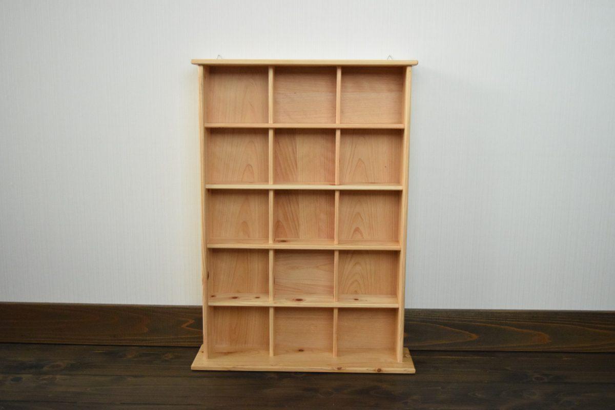 写真3:040186【老舗家具店の手作り】飾り棚(5段) 白木