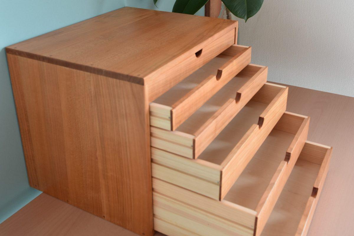 写真3:【老舗家具店の手作り】6段小物入れ(大)