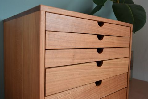 写真2:【老舗家具店の手作り】6段小物入れ(大)を選択