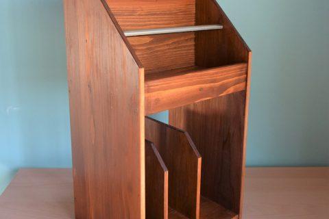 写真2:【老舗家具店の手作り】マガジンラック2020版(ブラウン)を選択