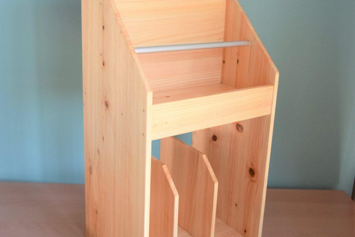 写真2:【老舗家具店の手作り】マガジンラック2020版(白木)