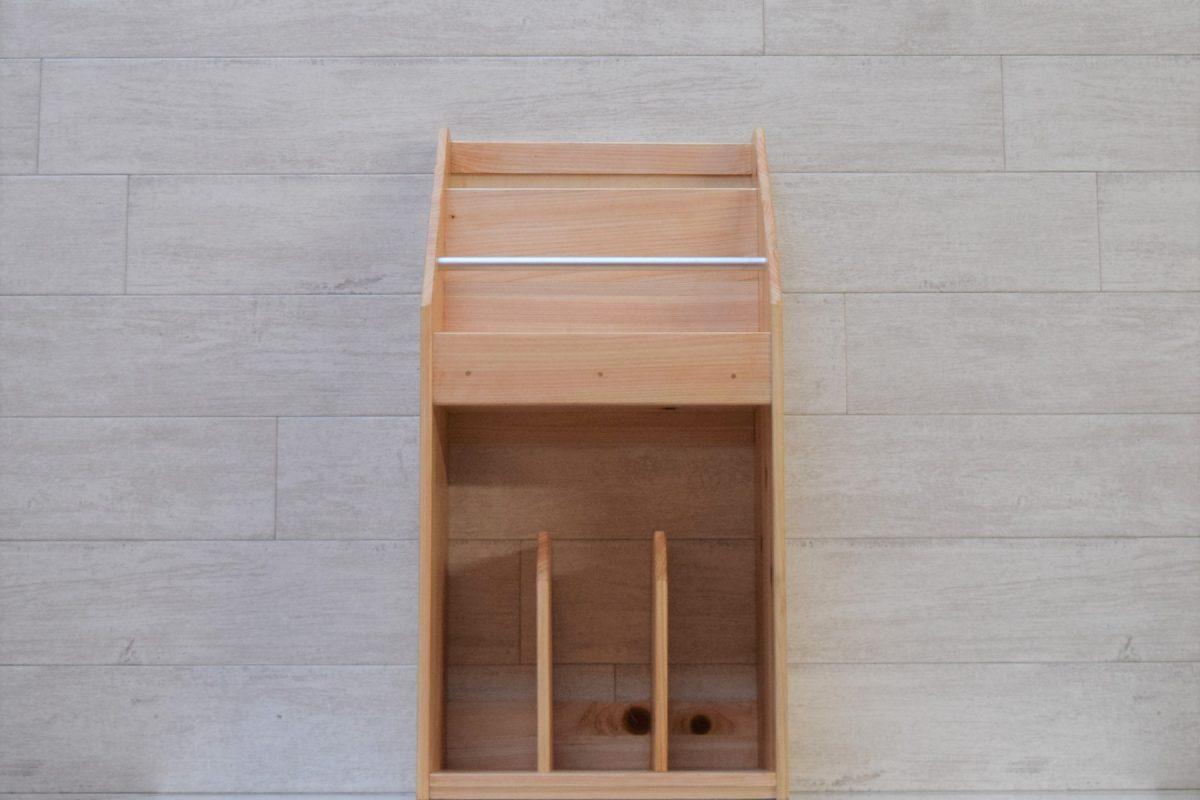 写真1:【老舗家具店の手作り】マガジンラック2020版(白木)