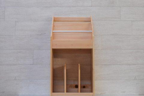 【老舗家具店の手作り】マガジンラック2020版(白木)