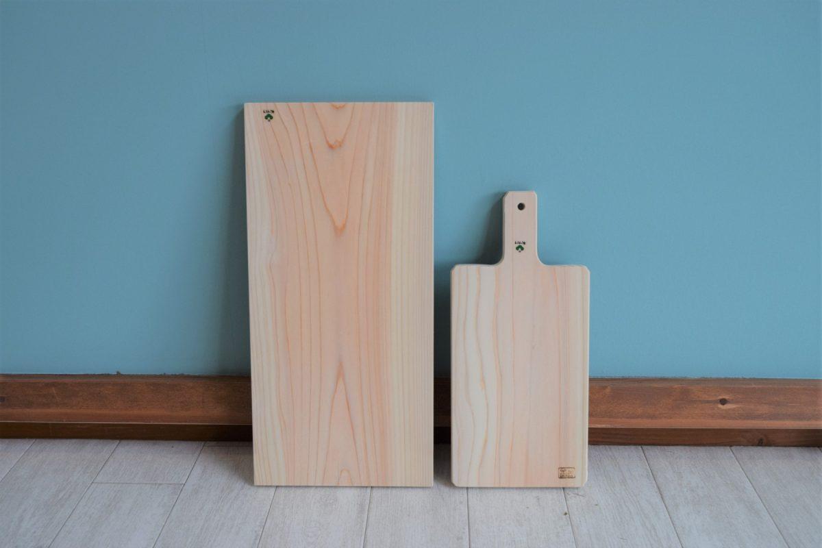 写真1:【老舗家具店の手作り】 俎板(まないた)2種セット