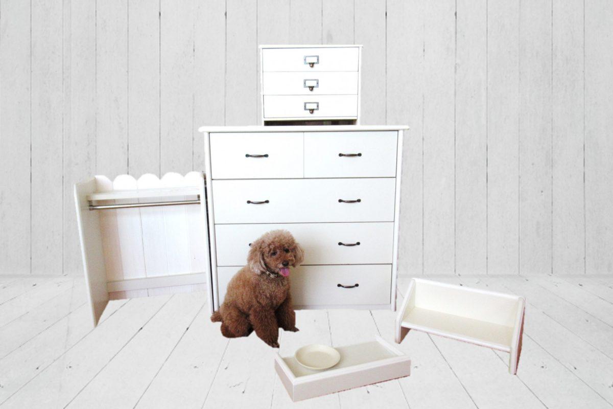 写真1:【老舗家具店が作るペット用家具】ペット用家具 5点セット